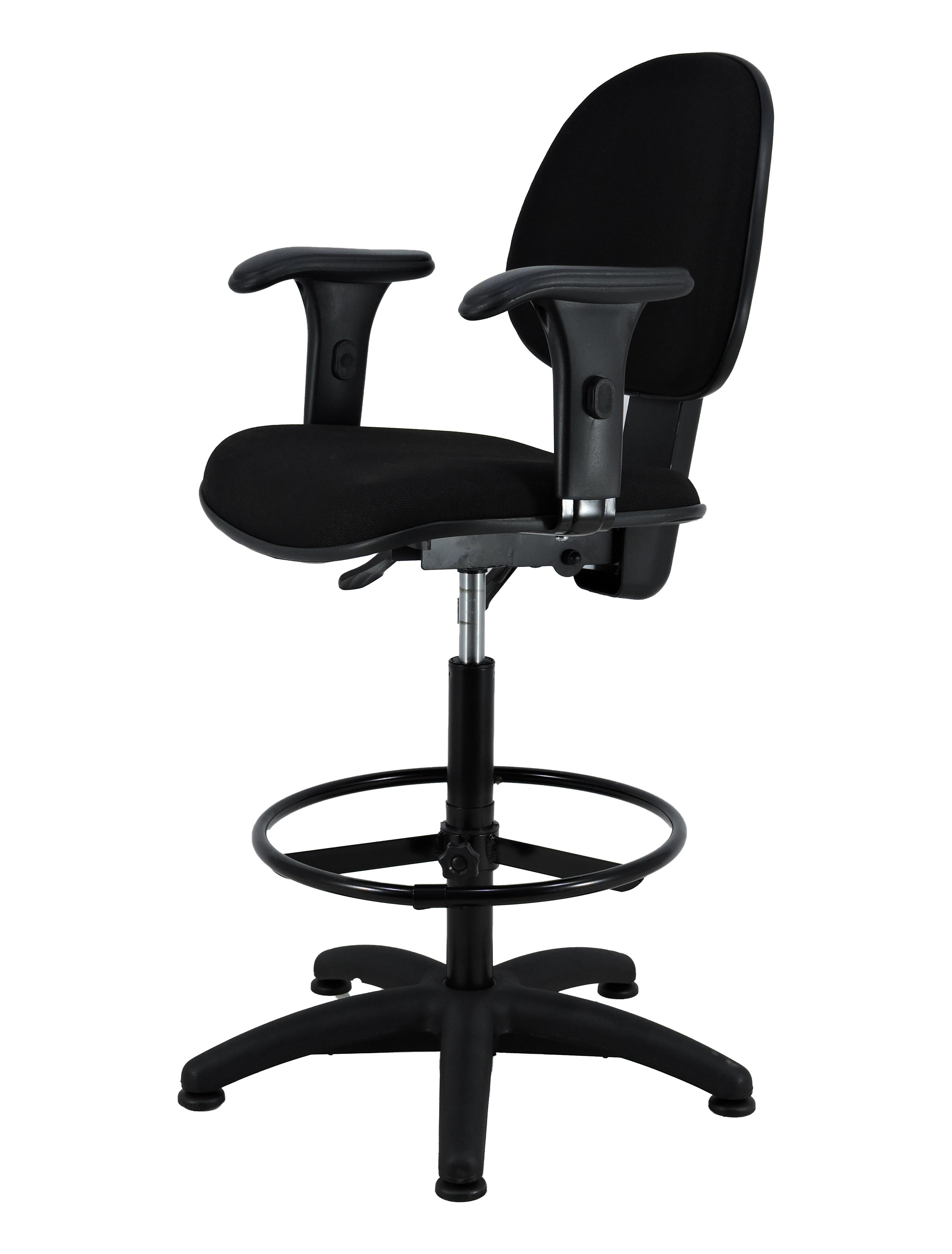 Image of: Industria Das Cadeiras Cadeira Escritorio T Regulavel Caixa Base Fixa Com Sapata J Serrano Work Preta